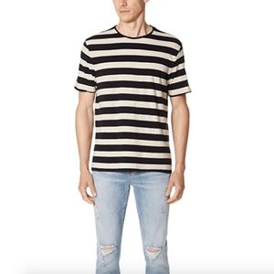 Vince Striped Crew Tee Size XL